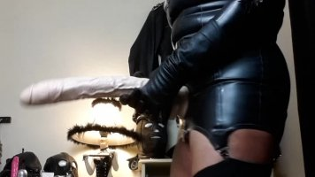 Suck My Enormous Strap On Cock NOW!!!