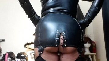 Worship My Latex Bottom under My Strict Control